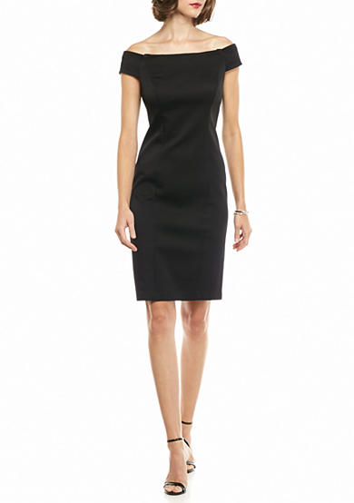 Adrianna Papell Off the Shoulder Sheath Dress