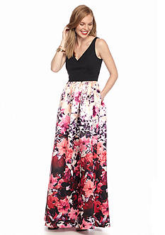 Adrianna Papell Floral Printed Gown