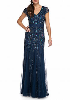 Adrianna Papell Bead and Sequin Gown