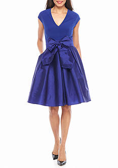 Adrianna Papell Taffeta Fit and Flare Dress