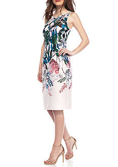 Adrianna Papell Sleeveless Floral Shift Dress