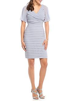 Adrianna Papell Flutter Sleeve Sheath Dress