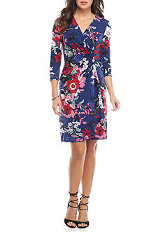 Adrianna Papell Floral Wrap Dress