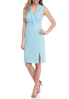 Adrianna Papell Sleeveless Fold Over Dress