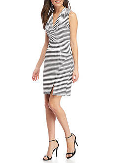 Adrianna Papell Sleeveless Fold-Over Dress