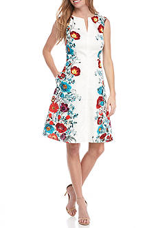 Adrianna Papell Sleeveless Fit and Flare Dress