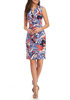 Adrianna Papell Floral Cap Sleeve Dress