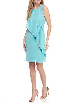 Adrianna Papell Sleeveless Faux Wrap Dress