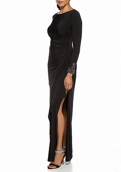 Adrianna Papell Bead Embellished Jersey Gown