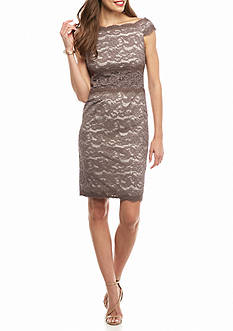 Adrianna Papell Off the Shoulder Lace Cocktail Dress