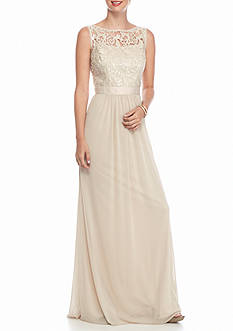 Adrianna Papell Sequin Mesh Tulle Gown