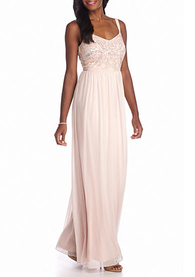 Adrianna Papell Bead and Sequin Bodice Gown