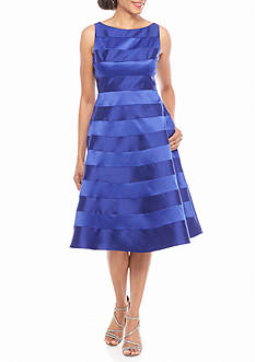 Adrianna Papell Striped Fit and Flare Party Dress
