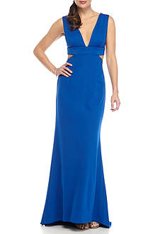 Adrianna Papell Cut Out Ponte Gown