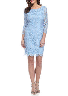 Adrianna Papell Short Lace Sheath Dress