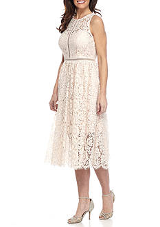 Adrianna Papell Halter Lace Dress