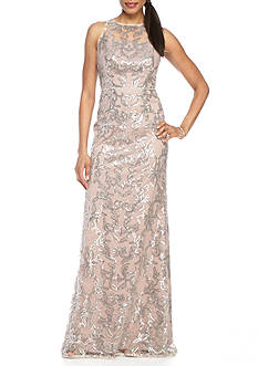 Adrianna Papell Sequin Lace Gown