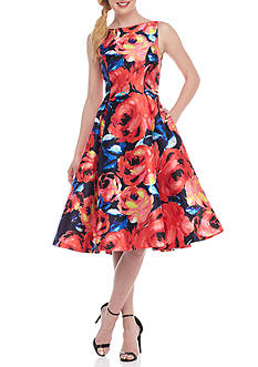Adrianna Papell Floral Printed Cocktail Dress