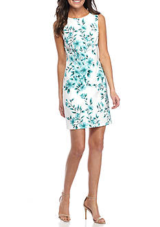 AGB Floral Printed Sheath Dress