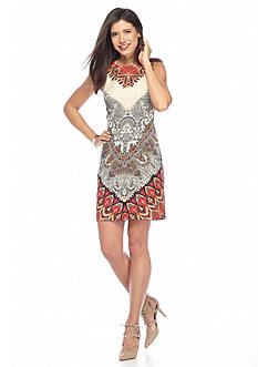 AGB Paisley Printed Sheath Dress