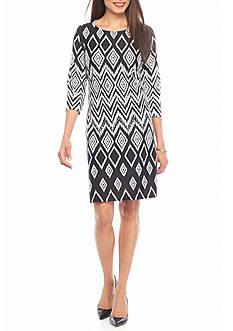 Nine West Diamond Printed Shift Dress