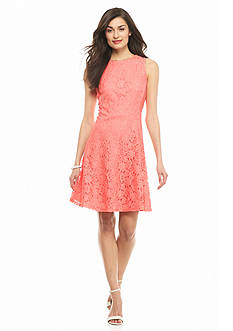 Nine West Lace Fit and Flare Dress