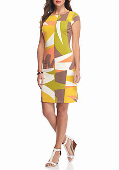 Nine West Printed Shift Dress