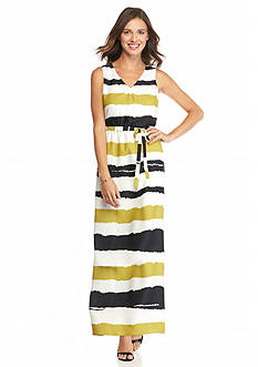 Nine West Striped Maxi Dress