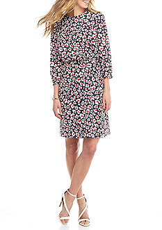 Nine West Floral Printed Dress