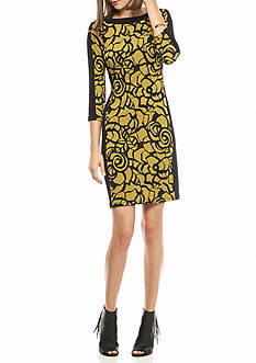 Nine West Printed Jersey Shift Dress