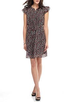 Nine West Flutter Sleeve A-line Dress