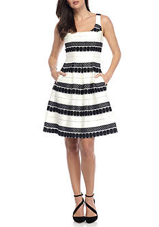 Nine West Jacquard Lace Novelty Dress