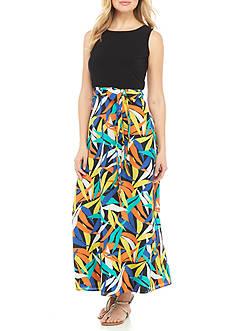 Nine West Tie-Waist Maxi Dress