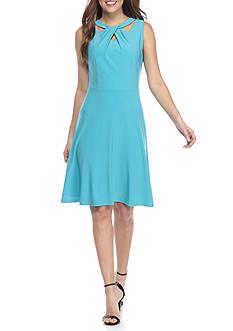 Nine West Sleeveless Keyhole Dress