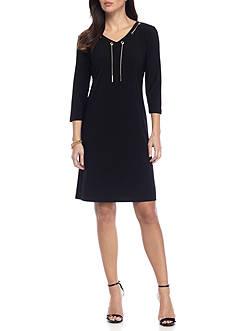 Nine West Jersey V-Neck Dress