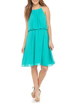 Nine West Blouson Halter Dress