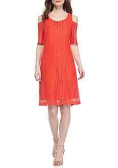 Nine West Dot Lace Street Length Dress