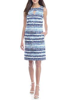 Nine West Spiral Stripe Sheath Dress