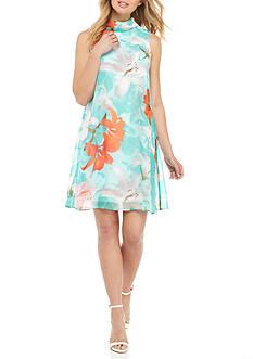 Nine West Floral Printed Swing Dress