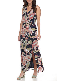 Nine West Floral Printed Maxi Dress