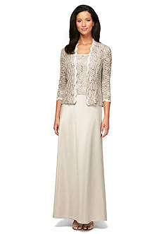 Alex Evenings Mock Two-Piece Gown with Jacket