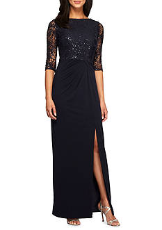Alex Evenings Lace and Sequin Bodice Gown
