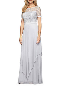 Alex Evenings Lace Bodice Gown