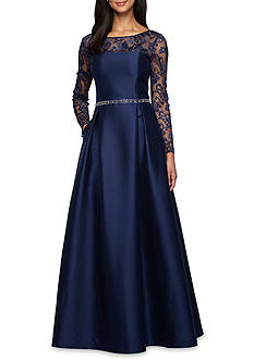 Alex Evenings Lace and Taffeta Ballgown