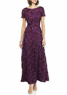 Alex Evenings Rosette with Sequin Gown