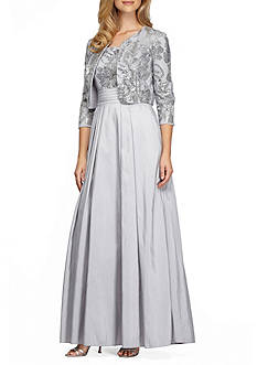 Alex Evenings Sequin Bodice Ballgown with Bolero Jacket