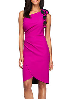 Alex Evenings One Shoulder Sheath Dress