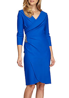 Alex Evenings Three-Quarter Sleeve Surplice Neck Dress