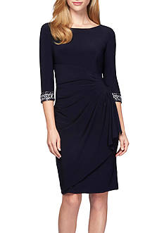 Alex Evenings Beaded Cuff Sheath Dress