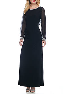 Alex Evenings Bead Embellished Jersey Gown